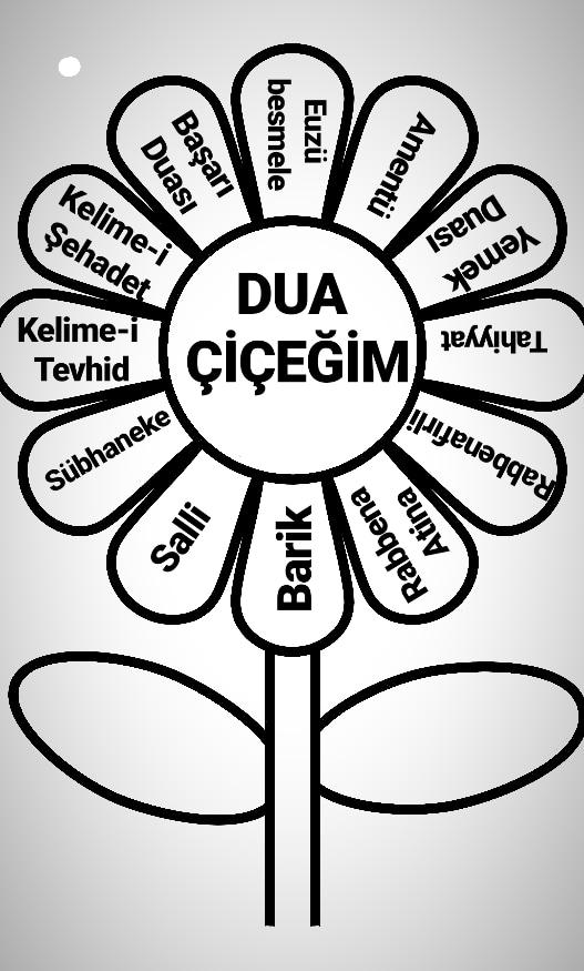 Çocuklar İçin Dua ve Süre Ezber Takibi Dua ve Sure Çiçeği