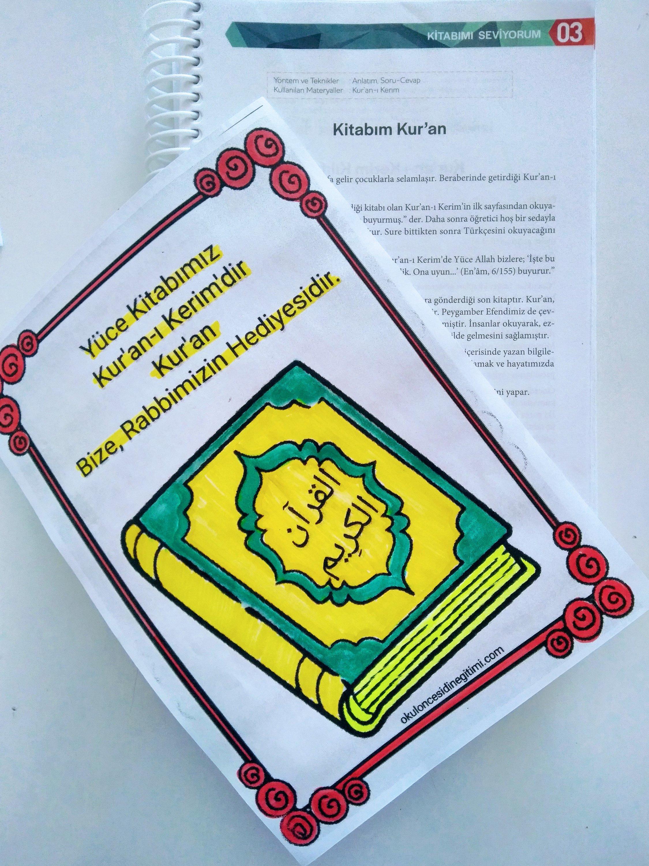 Kitabımı Seviyorum Ünitesi Etkinliği – Kur'an-ı Kerim Sevgisi boyama sayfası -Kitabım Kur'an