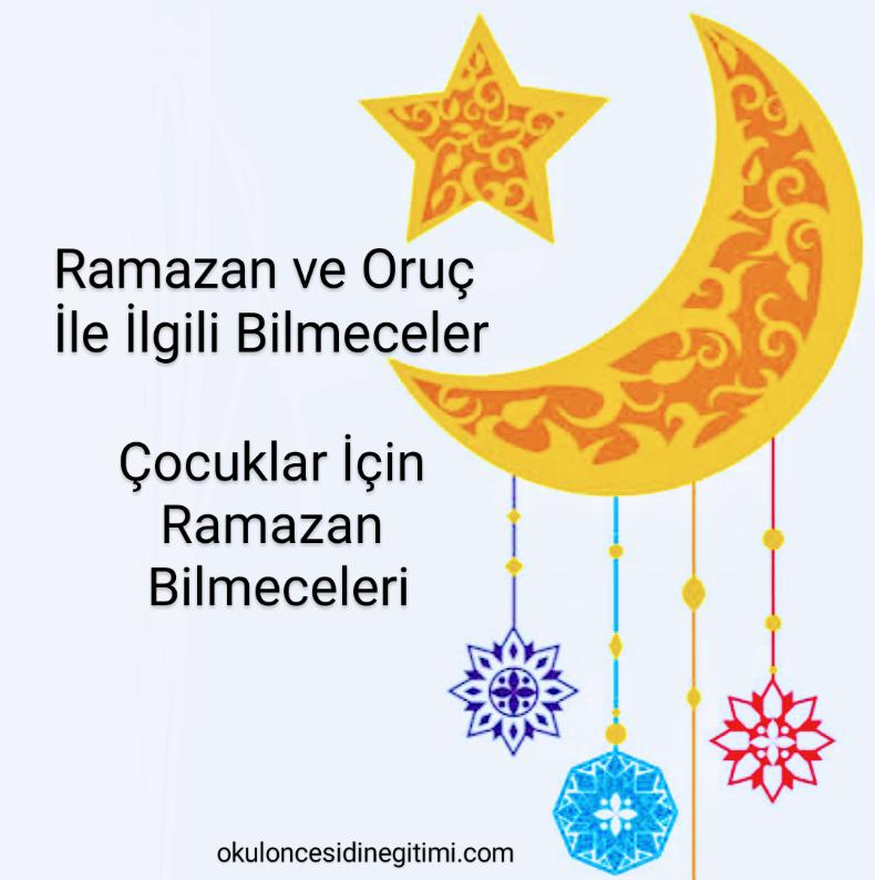 Ramazan'la İlgili Bilmeceler – Oruç ve Ramazan bilmeceleri
